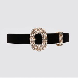 Zara belt with bejeweled buckle